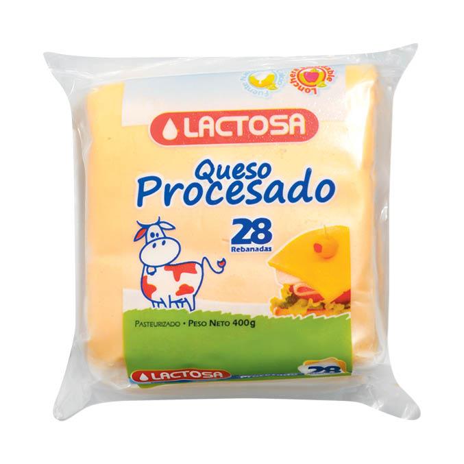 QUESO PROCESADO LACTOSA AMARILLO 400 GR